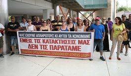 Οι εργαζόμενοι του Athens Ledra στην J & P Avax (φωτό-video)