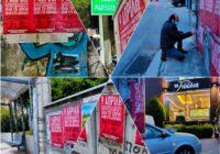 Από την αφισοκόλληση του Συνδικάτου στην Καλογρέζα