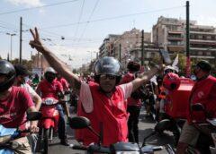 Οι εργαζόμενοι της Σελέκτ Σέρβις δίπλα στον αγώνα των διανομέων της E-food